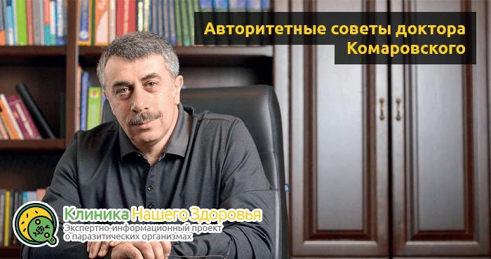Советы и методы лечения глистов от доктора Комаровского: видео