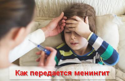 как передается менингит