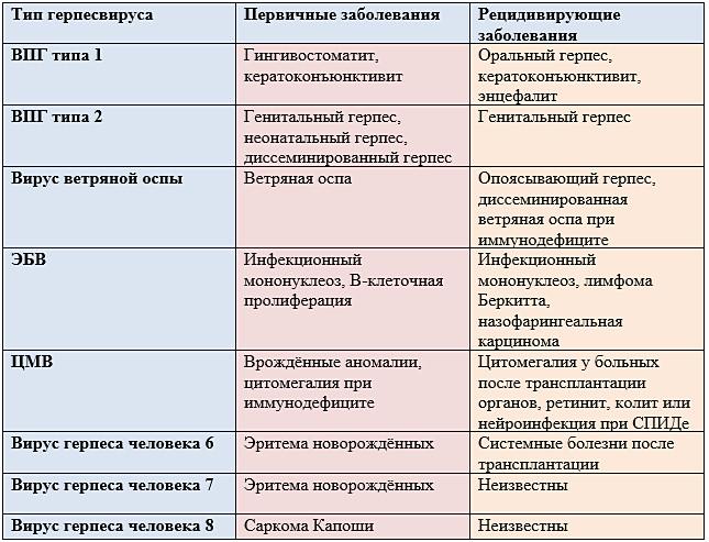 Разновидности герпеса на теле